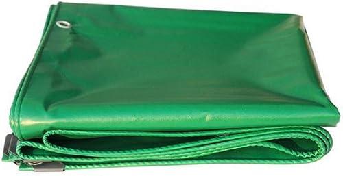 Yunyisujiao Bache en Polyéthylène 450g   m2 Epaisseur 0.38mm Haute résistance à la Corrosion, Disponible en 20 Tailles. (Couleur   vert, Taille   5X5M)