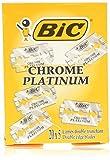 BIC Chrome Platinum Double Edge (DE) Razorblade - 100 Blades