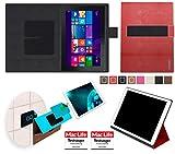 reboon Hülle für Dell Venue 10 Pro LTE 64 GB Tasche Cover Case Bumper | in Rot Leder | Testsieger