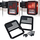"Xprite ""American US Flag"" Tail Light Covers Guards Protectors for 2007-2018 Jeep Wrangler JK Unlimited..."