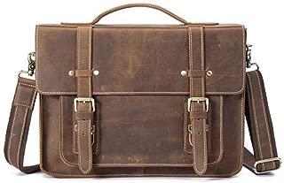 Mens Bag Shoulder Bag Handbag Men's Business Men's First Layer Cowhide Leather Briefcase Laptop Bag High capacity