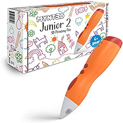 MYNT3D Junior2 3D Pen for Kids [2020 Updated] Child Safe Low Temperature Printing Pen (NOT Compatible with ABS/PLA)