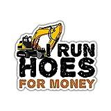 HOSALA 3 Pcs/Pack - I Run Hoes for Money Sticker - Gift...