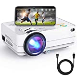 Wi-Fi Mini Projector, 3Stone A5 4500 Lux Portable Movie Projector with 1080P Supported, Wireless Screen Mirroring, Blue-ray Glass Lens, Outdoor Multimedia Video Projector Support TV Stick, PC, PS4, AV