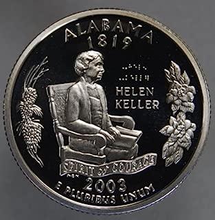 2003 S Proof Silver Quarter ALABAMA Gem Mint