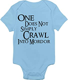 Lord Of The Rings Bodysuit - One Does Not Simply Crawl Into Mordor - Handmade Baby Cloths For Boys And Girls - Baby Shower Gift Idea