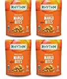 Image of Rhythm Superfoods Crunchy Mango Bites, Organic & Non-GMO, 1.8 Oz (Pack Of 4), Vegan/Gluten-Free Sweet Fruit Snacks