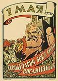 Poster Vintage-Stil Sowjetunion Propaganda, russischer Text