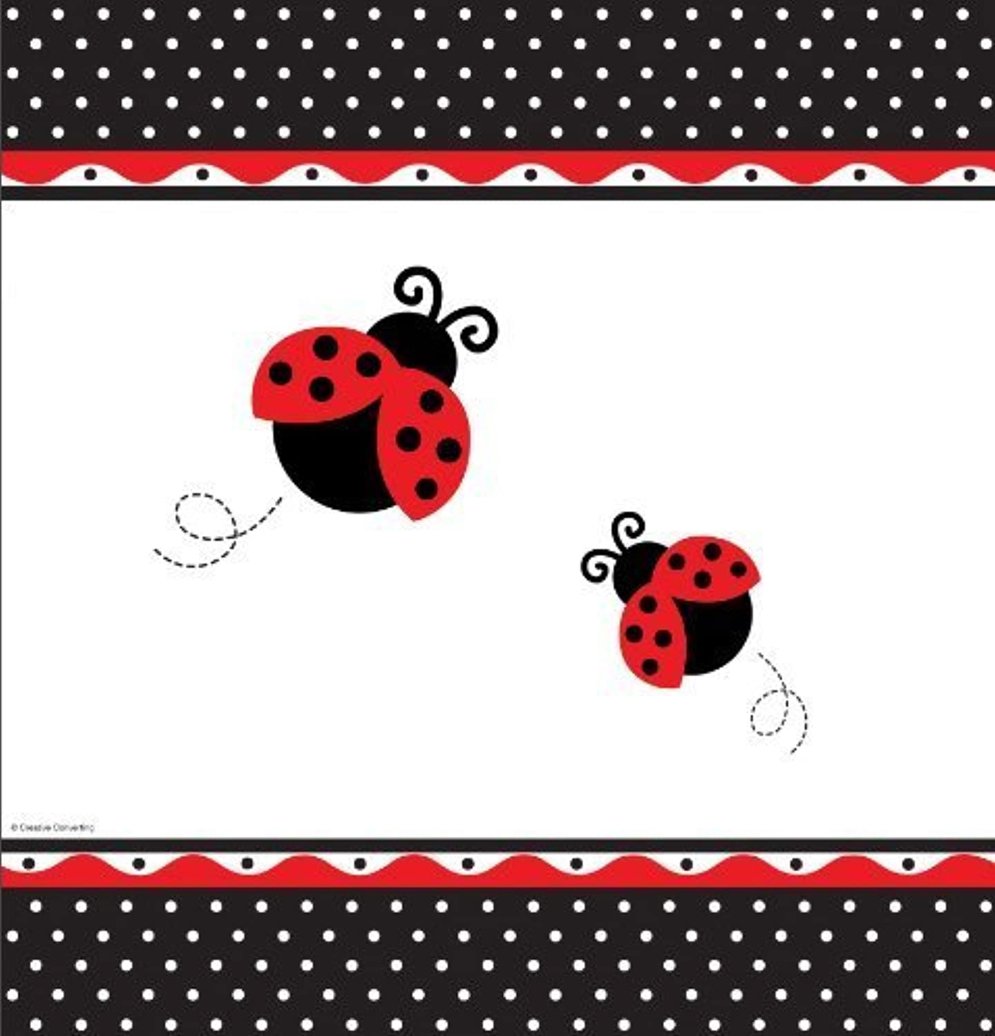 Fancy Ladybug Polka Dot Party Plastic Tablecover by Ladybug Party