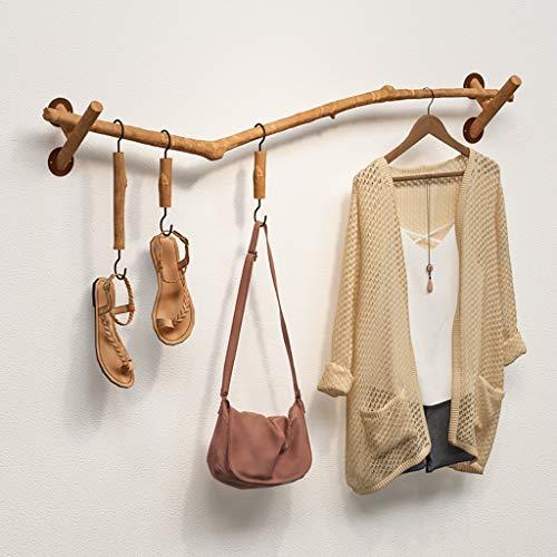 GWXYMJ Kleiderständer Wandmontage Kleiderständer Wandgarderobe Personalisiertes Bekleidungsgeschäft für Damen Ausstellungsstand Massivholz Äste hängen Kleiderregal (Size : 100cm)