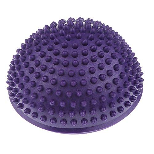 SM SunniMix Sports Balance Igelball Noppenball Massageball Halbkugel Yoga Igel Ball Balance Trainer - Lila