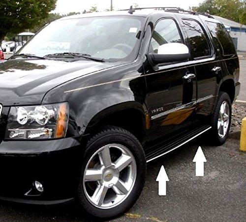 Automotive Authority LLC GMC Yukon Yukon XL 2007-2014 Chrome Running Board Molding Trim 2008 2009 2010 2011 2012 2013 07 08 09 10 11 12 13 14 Hybrid SLT SLE