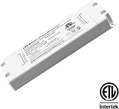 CATIYA 24V 25W LED Driver Phase Dimming, ETL Listed Class 2 Unit Constant Voltage Transformer, for Forward Phase, Magnetic Low Voltage and Triac Dimmers