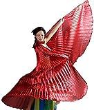 ISIS Wing Rojo Danza velo alas Danza del Vientre capa Cape Carnaval Disfraz