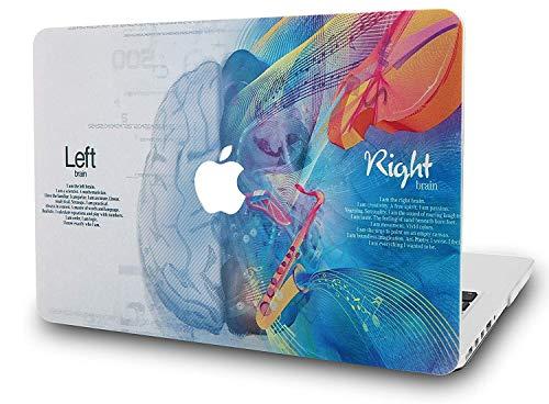RQTX Brain Image Custodia per Laptop per Nuovo MacBook Air 13'A2179 A1932 Retina A2179 A1932 Set Copertina Rigida Opaca Custodia Rigida Cervello Blu