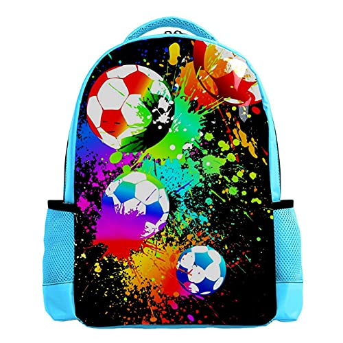 Mochila para niños Fútbol Mochilas Escolares para niños y niñas Mochilas Escolares Creativo para Viaje de Estudios 26.6x20x42cm