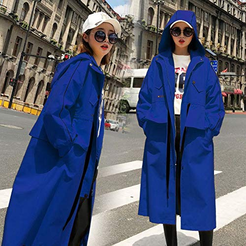ZLYHXYR Mantel Damen Bluse Elegant Herbst Winter Trenchcoat Jacke/Lässiger Langer Trenchcoat Für Damen Übergroßer Vintage Yellow Khaki Outwear Lose Mantel-Pullover Parka Coat