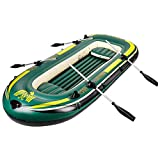 Kayak Inflatable Boat Thick Wear-Resistant Fishing Boat Fast Travel Canoe, 4 People