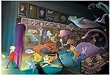 Acuario de ensueño-Pintar por Numeros Adultos Niños DIY Pintura por Números con Pinceles y Pinturas Decoraciones Pinturas para el Hogar - 40X50CM