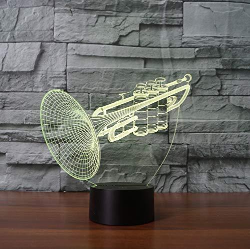 Musikinstrument Trompete 3D Nacht Lampe LED Tischlampe Geschenk dekorative Lampe