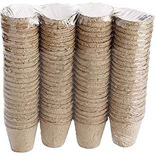 DXX-HR Grow 100 Piezas Nursery Bandeja de macetas biodegradables de Papel de Pulpa de turba Pot Vivero Copa Nursery Planta de Tiesto Maceta Bolsa Jarrón Decorativo