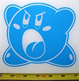 The ONE and ONLY! Kirby - HQ Single Color Light Blue 6' x 5.5' Vinyl Sticker Decal