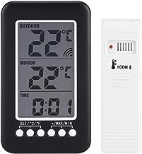 Agatige Termómetro de Interior Digital, termómetro LCD con transmisor inalámbrico Herramientas de medición de Temperatura doméstica