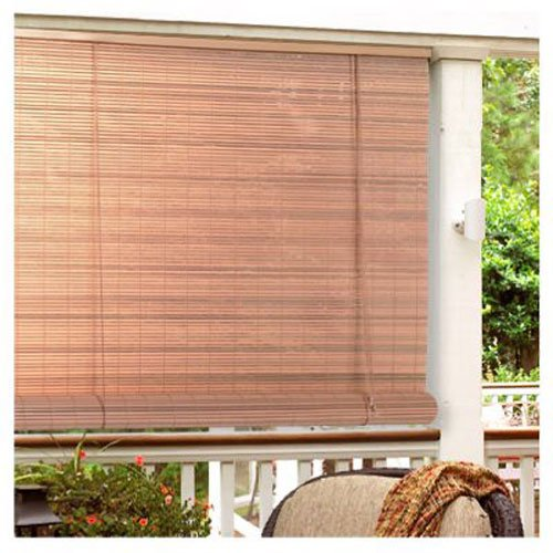 Lewis Hyman Not Available Radiance 0321246 Vinyl PVC Roll Up Blind, Woodgrain, 48 Inch Wide x 72 Inch Long, 48'W x 72'L,