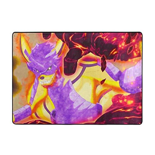 Anime Naruto Kurama Soft Pelusa Grande Alfombras 213 x 152 cm para dormitorio y sala de estar decoración del hogar alfombras (213 x 152 cm)