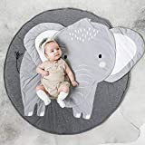 litymitzromq Ultra Soft Indoor Modern Area Rugs, Cartoon Elephant Pattern Baby Play Mat Pad Crawling Blanket Carpet Rug Decor for Children Bedroom Home Decor Nursery Rugs(Elephant)