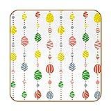 Juego de 6 posavasos de diseño único para posavasos de mesa con posavasos antideslizantes en la parte trasera, juegos de regalo, bonitos huevos de Pascua