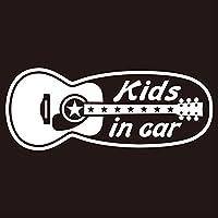imoninn KIDS in car ステッカー 【パッケージ版】 No.20 ギター (白色)