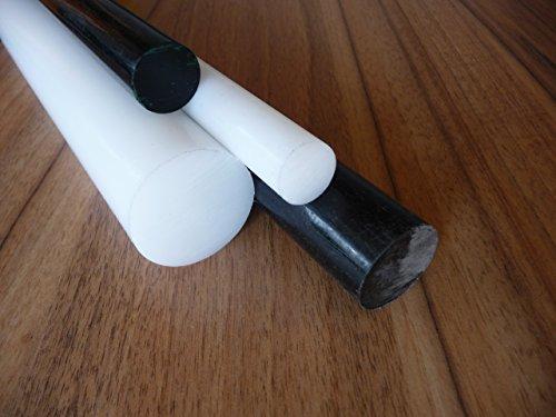 Rundstab aus POM schwarz Ø 60 mm, Lang 250 mm Kunststoffrundstab