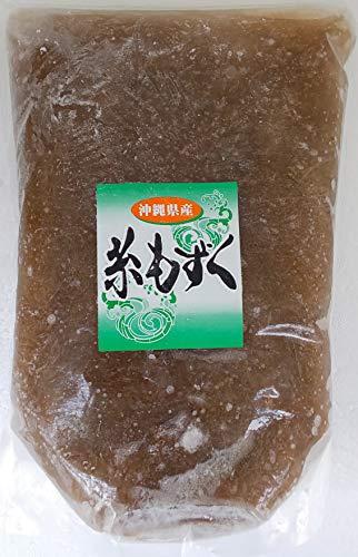 国産 ( 沖縄県産 ) 冷凍 洗い もずく ( 細 ) 1kg×12P 業務用 味付け 無し