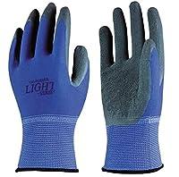 おたふく手袋/背抜き手袋/13G 天然ゴム背抜き手袋 10双 カラー:ブルー サイズ:M 品番:A-371