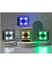 Solar Lights Outdoor, 4 led Brick lichten IP65 waterdicht Slimme decoratieve verlichting landschapsverlichting voor Tuin, binnenplaats, gazon kleur verlichting BDSHL (Color : Blue)