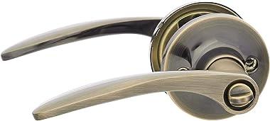 AmazonBasics Manija de privacidad, curvado, bronce envejecido