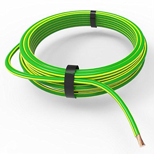 AUPROTEC Fahrzeugleitung 6,0 mm² FLRY-B als Ring 5m oder 10m Auswahl: 5m, grün-gelb