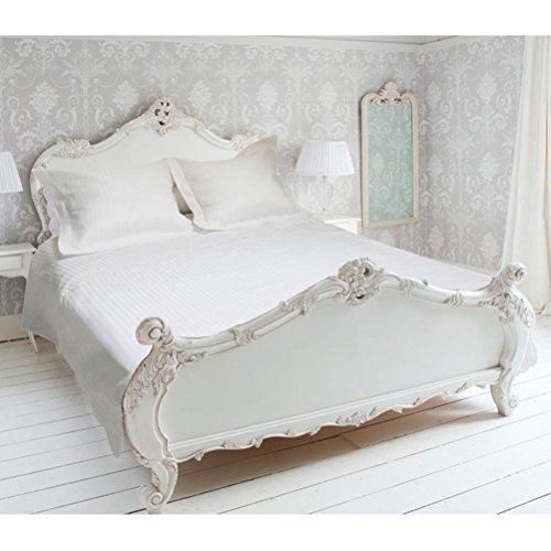 Eden Parure de Housse de Couette 240x220 cm en Percale Satin, Coloris Blanc, Polyester Coton, 220x240 cm