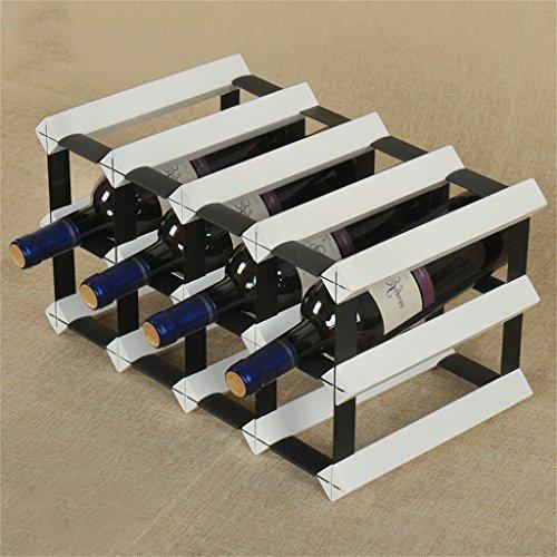 Application de décoration murale Porte-bouteilles de vin de 6 bouteilles-étagère suspendue de gobelet de plancher multi-fonction de plancher en bois solide Racks pour étagères (Couleur : Blanc)
