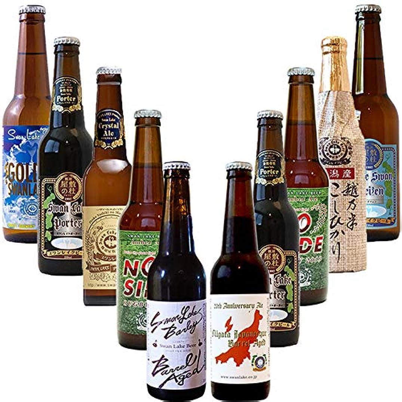 山積みの羨望くつろぎクラフトビール ギフト 22周年祭 お得なセット 10本 飲み比べ 金賞世界一受賞 スワンレイクビール パーティーセット