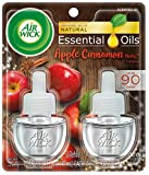 Air Wick plug in Scented Oil 2 Refills, Apple Cinnamon Medley, Holiday scent, Holiday spray, (2x0.67oz), Essential Oils, Air Freshener, Packaging May Vary