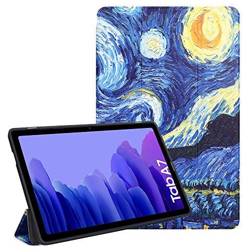 ZhaoCo Funda Compatible con Samsung Galaxy Tab A7 10.4 Pulgada 2020, Carcasa Ligera de Cuerpo Completo para Tableta SM-T500 / SM-T505 (Painting)