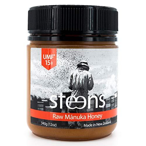 Steens Miele Di Manuka UMF 15 (MGO 514) Integrale Crudo e Non Pastorizzato nuova zelanda Miele 340 Gram – Con Enzimi Naturali E La Beebread