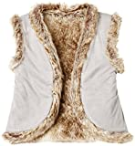 RED WAGON Gilet Sans Manches Fausse Fourrure Fille , Gris (Silver Grey), 4 ans
