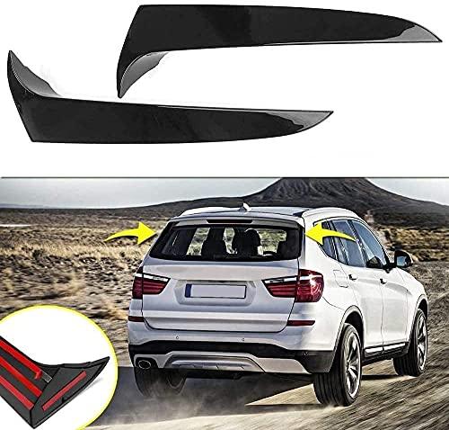 ZQADTU 1 par de ventanillas Verticales traseras Spoiler Trasero Distribuidor de Aire Spoiler para BMW X3 F25 2011-2017, pegadas sin Agujeros, Negro