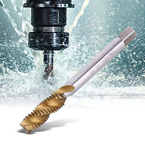 Gold Silber Gewindebohrer Spiral geriffelter Gewindebohrer M8x1,25 mm Gewindeschneider M8 Schraubgewindebohrer zur Verarbeitung von Stahlblechkupfer