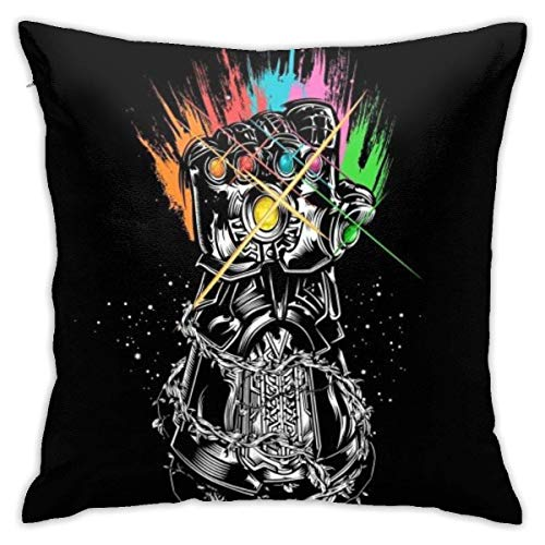 Gypsophila Pillowcase Iron Man Infinity Stone Decorative Throw Pillow Covers Cushion Cover for Home Sofa 18 X 18 Inch