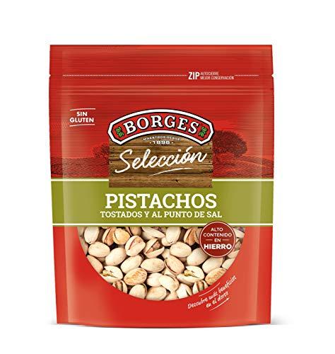Borges - Pistachos con cáscara tostados y salados - Bolsa de 130 g