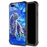 Schutzhülle für iPhone 8, iPhone SE 2020, weiße Tiger,
